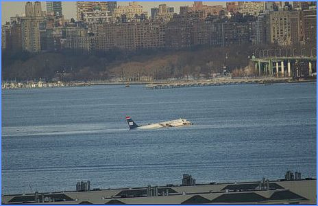 Airoplane Crash-Landing On The Hudson River