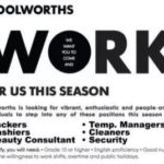 Woolworths Vacancies