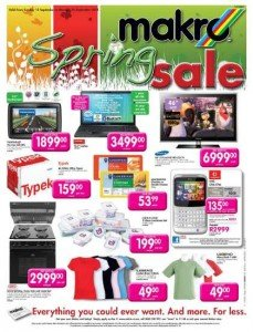 Promotional deals at Makro stores